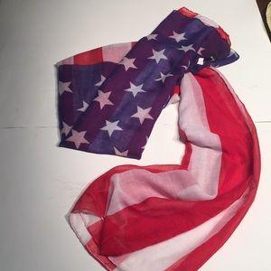 "American Flag Scarf,  36"" by 72"", Sheer"